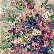 Картины ручной работы. Ярмарка Мастеров - ручная работа Картина маслом танец цветов. Handmade.