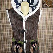 Одежда ручной работы. Ярмарка Мастеров - ручная работа жилет с совушками. Handmade.