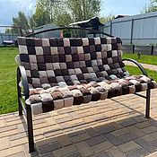 Дача и сад handmade. Livemaster - original item Pillows and mattresses for furniture: Bombon mat for bench / swing. Handmade.