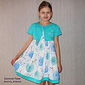 Работы для детей, ручной работы. Ярмарка Мастеров - ручная работа Летний комплект для девочки - платье и болеро. Handmade.