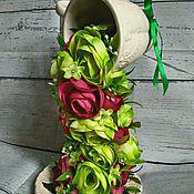 """Цветы и флористика ручной работы. Ярмарка Мастеров - ручная работа Парящая чашка """"Сочная камелия"""". Handmade."""