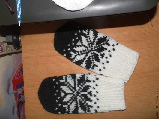 Варежки, митенки, перчатки ручной работы. Ярмарка Мастеров - ручная работа. Купить Варежки вязаные в скандинавском стиле. Handmade.