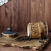 Для дома и интерьера handmade. Livemaster - original item jar for storing coffee or tea
