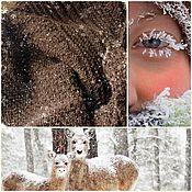 """Аксессуары ручной работы. Ярмарка Мастеров - ручная работа Шаль вязаная """"Winter Alpaca"""" бактус платок. Handmade."""
