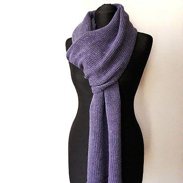Аксессуары ручной работы. Ярмарка Мастеров - ручная работа Шарфы: Комплект вязаный женский шарф + варежки. Handmade.