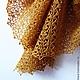 """Шали, палантины ручной работы. Ярмарка Мастеров - ручная работа. Купить Шаль """"Цветочный Мёд"""". Handmade. Желтый, мед, крючком"""