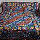 Текстиль, ковры ручной работы. Ярмарка Мастеров - ручная работа. Купить Лоскутное одеяло покрывало Cиняя поляна (2). Handmade.