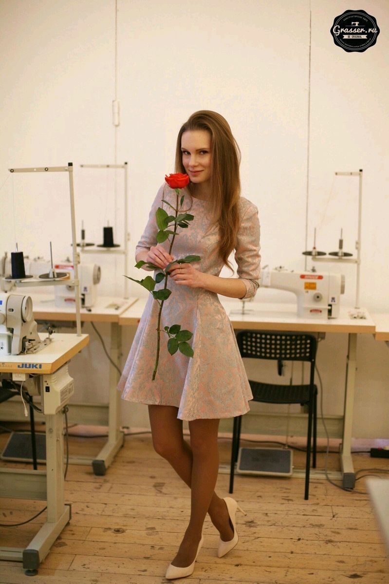 Cocktail dress made of Italian jacquard powder pink, Dresses, Moscow,  Фото №1