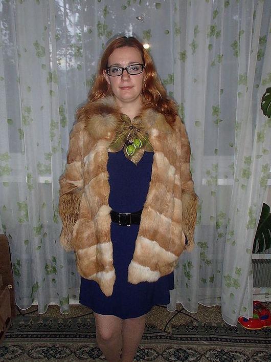 Верхняя одежда ручной работы. Ярмарка Мастеров - ручная работа. Купить Шуба из кролика и лисы. Handmade. Мех, кролик