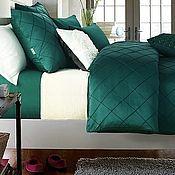 """Комплекты постельного белья ручной работы. Ярмарка Мастеров - ручная работа """"Emerald""""-постельное белье из LUX  ТЕМНЫЙ ИЗУМРУД. Handmade."""