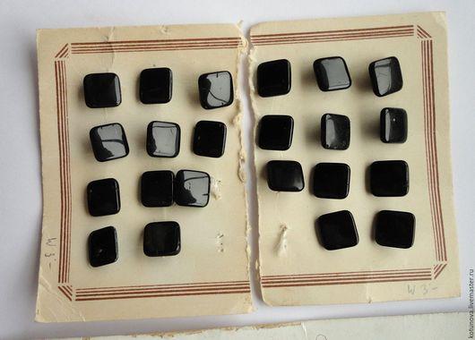 Шитье ручной работы. Ярмарка Мастеров - ручная работа. Купить 1900-1920гг Стеклянные гиалитовые пуговицы 22 штуки. Handmade.