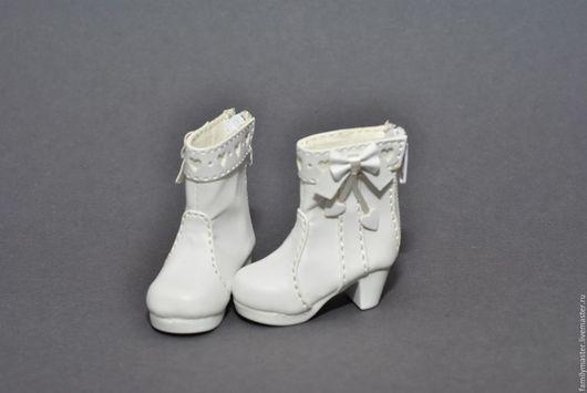 Куклы и игрушки ручной работы. Ярмарка Мастеров - ручная работа. Купить Элегантные ботиночки для кукол БЖД. Handmade. Белый