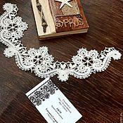 Материалы для творчества handmade. Livemaster - original item Insert lace for garment decoration. Handmade.