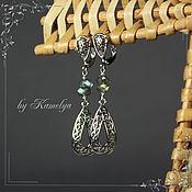 Украшения handmade. Livemaster - original item Earrings with labradorite