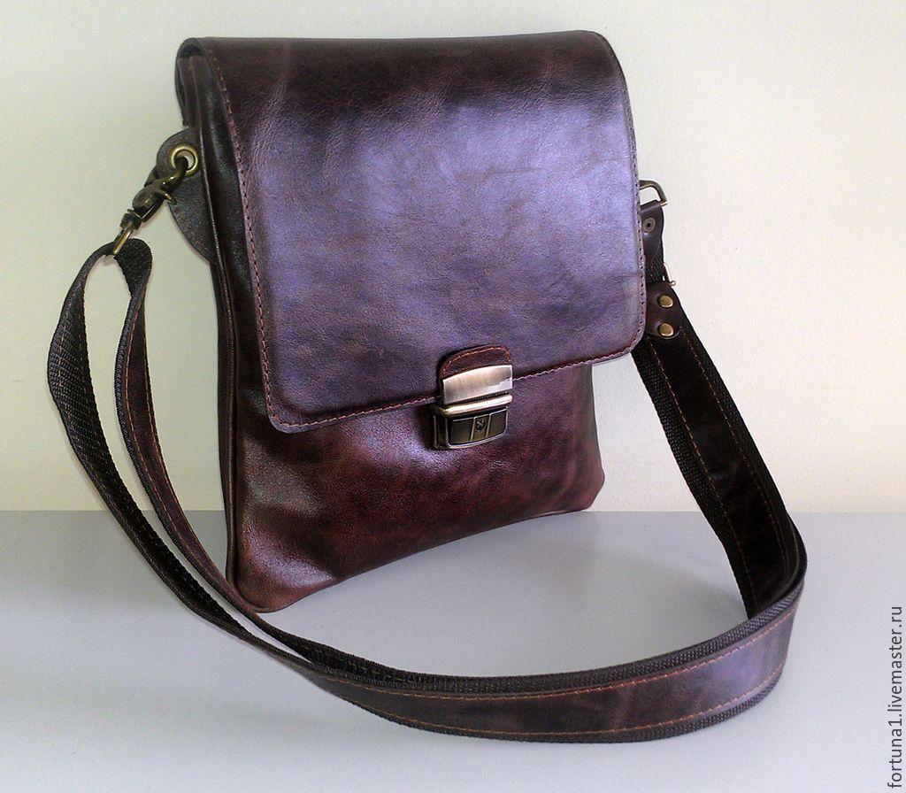 Bag leather mens 112, Men\'s bag, St. Petersburg,  Фото №1