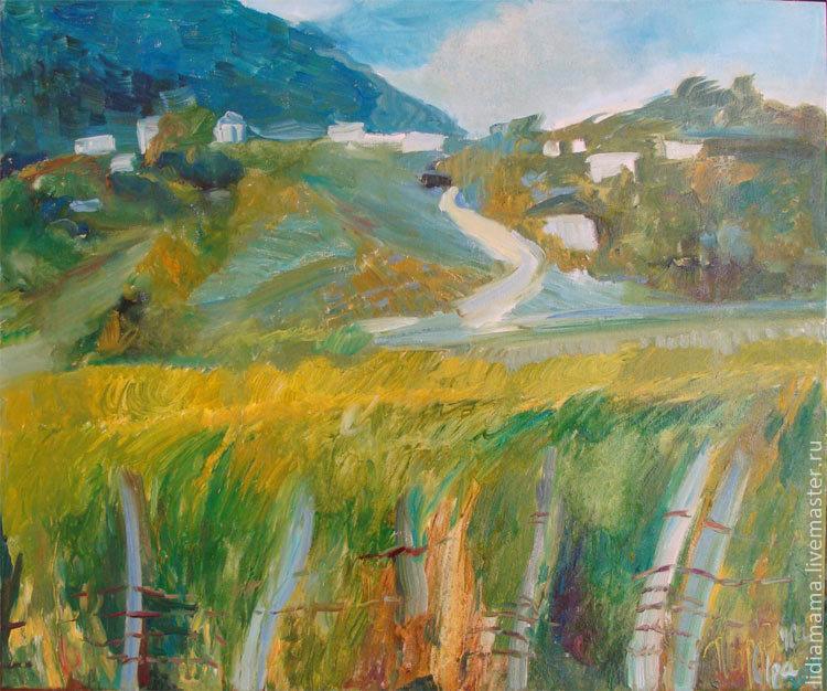 Abkhazia. On the way to the spring the artwork by Petrovskaya-Petovraji