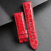 handmade. Livemaster - original item crocodile leather watch straps (67). Handmade.