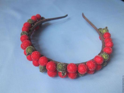 Диадемы, обручи ручной работы. Ярмарка Мастеров - ручная работа. Купить Ободок с сахарными ягодами. Handmade. Ободок для волос
