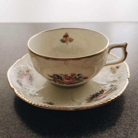 "Винтажная посуда. Ярмарка Мастеров - ручная работа. Купить Кофейная пара ""Сан-Суси"", Rosenthal, Selb-Bavaria, 1930-e. Handmade."