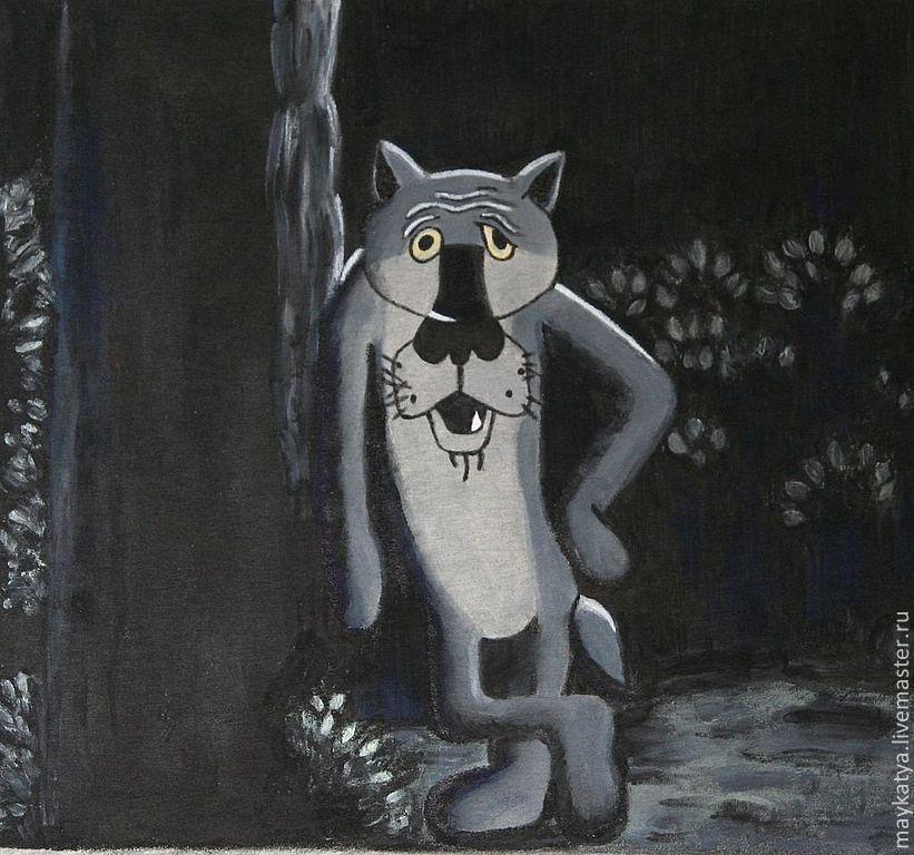 картинки волка из мультика жил был пес