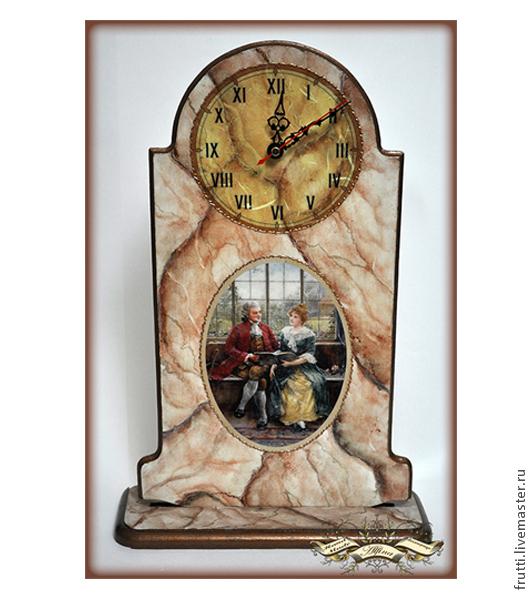 """Часы для дома ручной работы. Ярмарка Мастеров - ручная работа. Купить Часы каминные """"Чтиво"""". Handmade. Бежевый, часы"""