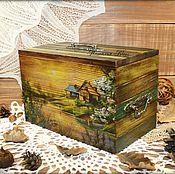 """Для дома и интерьера ручной работы. Ярмарка Мастеров - ручная работа Короб для хранения """"Родные просторы"""". Handmade."""