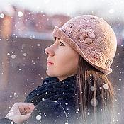 """Аксессуары ручной работы. Ярмарка Мастеров - ручная работа """"Розовый ветер"""" шляпка-клош. Handmade."""