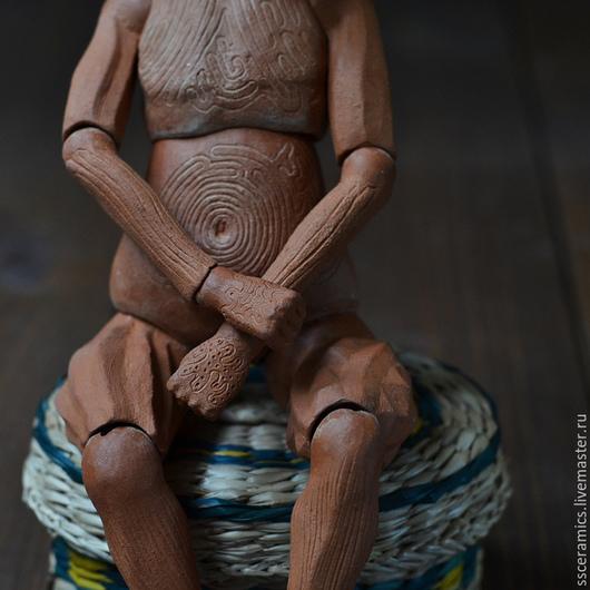 Коллекционные куклы ручной работы. Ярмарка Мастеров - ручная работа. Купить Драчливая Птица (шарнирная керамическая кукла). Handmade. Коричневый