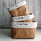 """Для дома и интерьера ручной работы. Ярмарка Мастеров - ручная работа Набор бумажных корзин """"Little Things"""". Handmade."""