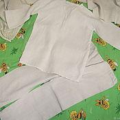 Винтажная одежда ручной работы. Ярмарка Мастеров - ручная работа Детская пижамка из винтажной домотканной льняной ткани. Handmade.