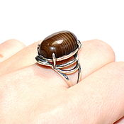 Украшения handmade. Livemaster - original item Unusual ring made of natural agate(a). Handmade.