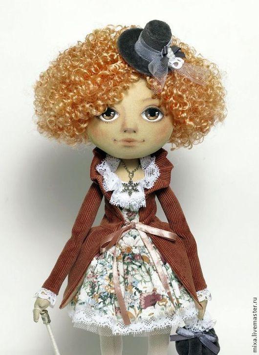 Коллекционные куклы ручной работы. Ярмарка Мастеров - ручная работа. Купить Николь, интерьерная кукла. Handmade. Подарок на новый год, вельвет