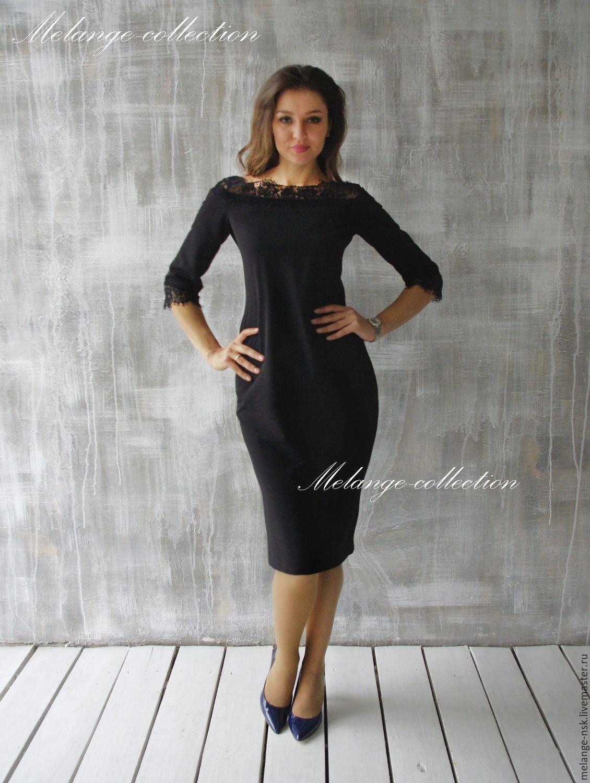 d6ad66d4851 Платья ручной работы. Ярмарка Мастеров - ручная работа. Купить Элегантное  черное платье с французским ...