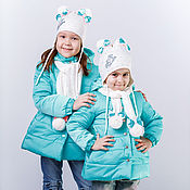 Работы для детей, ручной работы. Ярмарка Мастеров - ручная работа Комплект для девочки: пальтишко, шапка и шарф. Handmade.