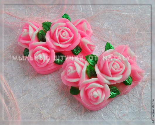 """Мыло ручной работы. Ярмарка Мастеров - ручная работа. Купить Мыло """"Букет роз"""". Handmade. Ярко-красный, цветы, мыло"""