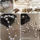 Авторские украшения бижутерия из натурального жемчуга и камней длинные жемчужные модные бусы колье серьги браслеты купить в интернете в Москве