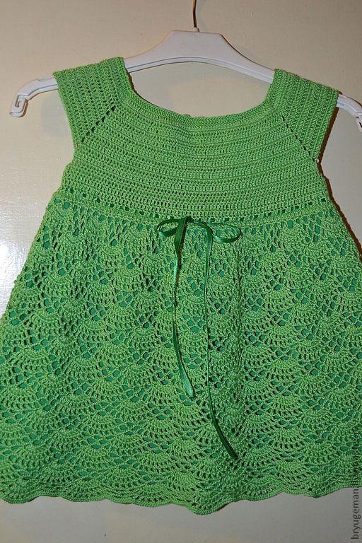 """Одежда для девочек, ручной работы. Ярмарка Мастеров - ручная работа. Купить платье """"Весенняя зелень"""". Handmade. Ярко-зелёный"""