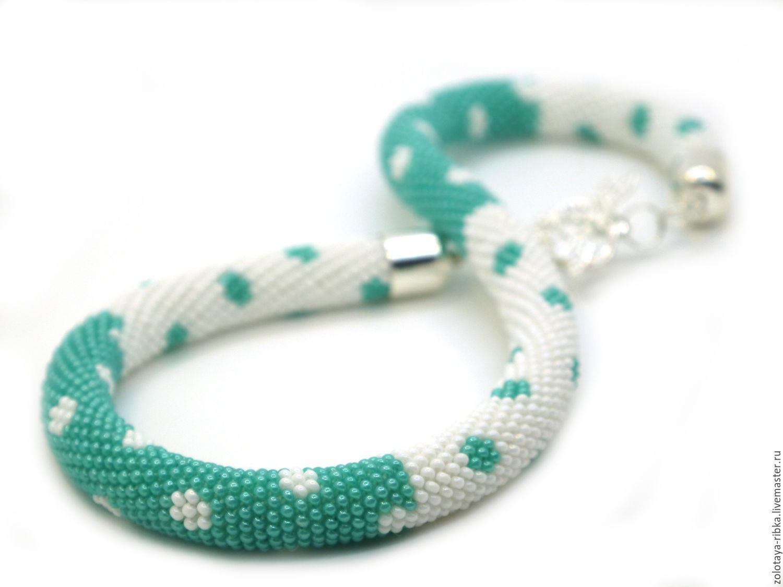 Necklace handmade. Harness polka dot. Handmade jewelry from goldfish. Fair Masters.