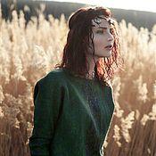 """Одежда ручной работы. Ярмарка Мастеров - ручная работа Зеленый свитер """"Русалочий омут """". Handmade."""