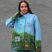 Одежда handmade. Livemaster - original item Jacket felted Summer day. Handmade.