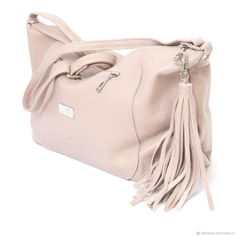 Handbags handmade. Livemaster - handmade. Buy Ashes rose soft leather shoulder  Bag with crossbody ... bf2a880cca32e