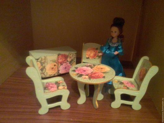 Кукольный дом ручной работы. Ярмарка Мастеров - ручная работа. Купить Мебель для куклы. Handmade. Мебель для кукол, мятный