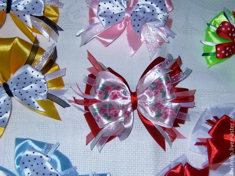 Бантики из ленточек для девочек своими руками