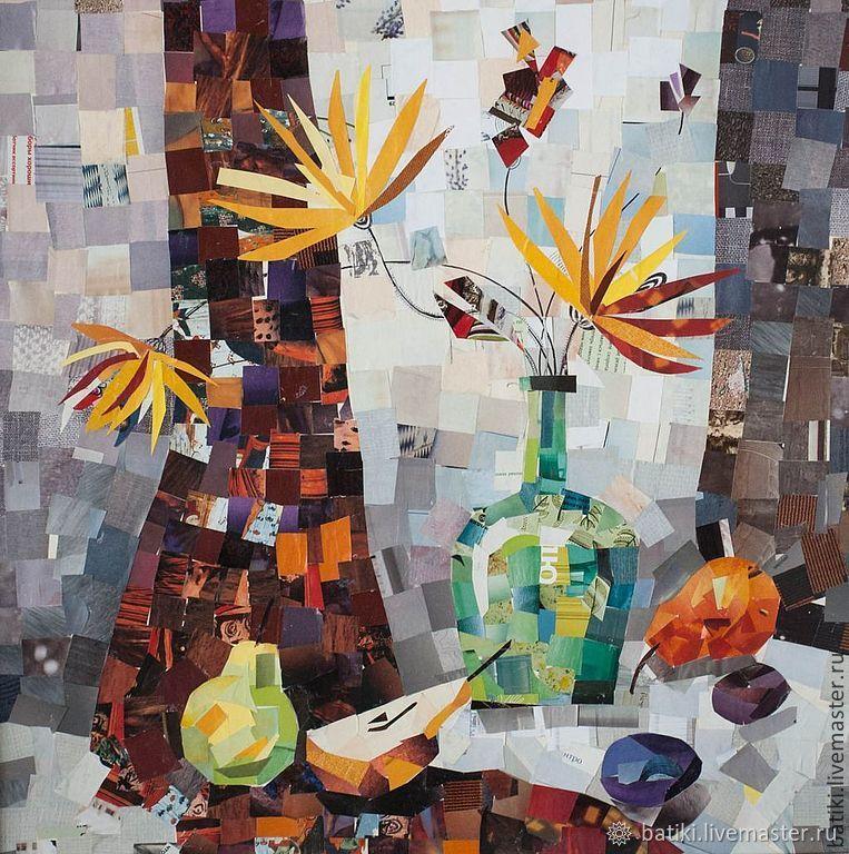 Весенний натюрморт с грушами. Коллаж, Картины, Санкт-Петербург, Фото №1