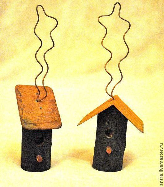 Куклы и игрушки ручной работы. Ярмарка Мастеров - ручная работа. Купить Скворечники деревянные с ржавой крышей (2 вида). Handmade.
