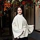 Пончо ручной работы. Куртка-пончо - пальтовая ткань, на подкладке - белый. Радченко Екатерина. Ярмарка Мастеров. Пончо на осень