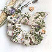 Украшения handmade. Livemaster - original item Fabric volume elastic band for hair, dandelion print. Handmade.
