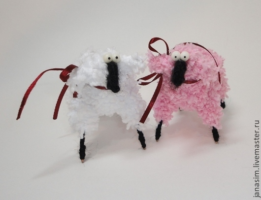 Игрушки животные, ручной работы. Ярмарка Мастеров - ручная работа. Купить Овечка. Handmade. Пушистики, год овцы, овечка