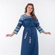 Одежда handmade. Livemaster - original item Caspian linen dress 01. Handmade.
