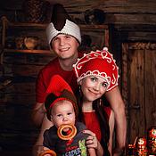 Аксессуары ручной работы. Ярмарка Мастеров - ручная работа Семейный комплект в русском стиле. Handmade.